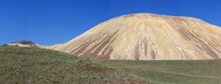 Mine waste rock dump, Bingham Canyon, Utah