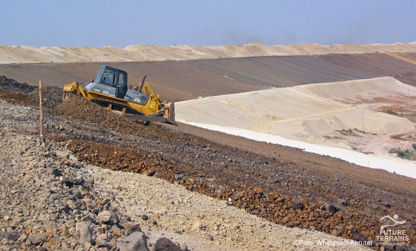 Modern ERGO tailings facility for re-worked gold tailings, South Africa