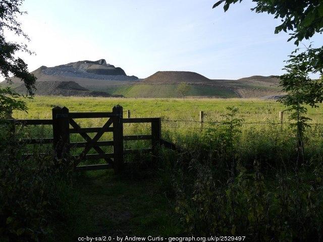 Northumberlandia. Land art created from old coal mine waste, UK