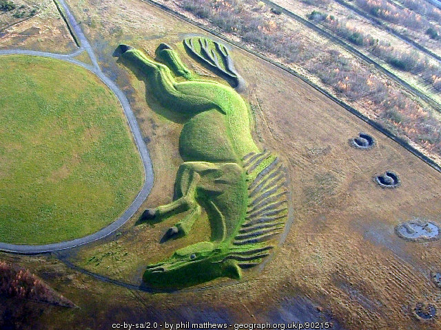 The Penallta Pit Pony created from wastes of a South Wales coal mine, UK