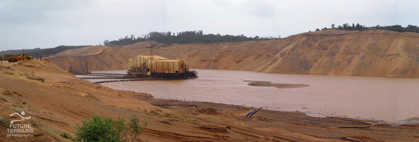 Mineral sands mining at Richards Bay