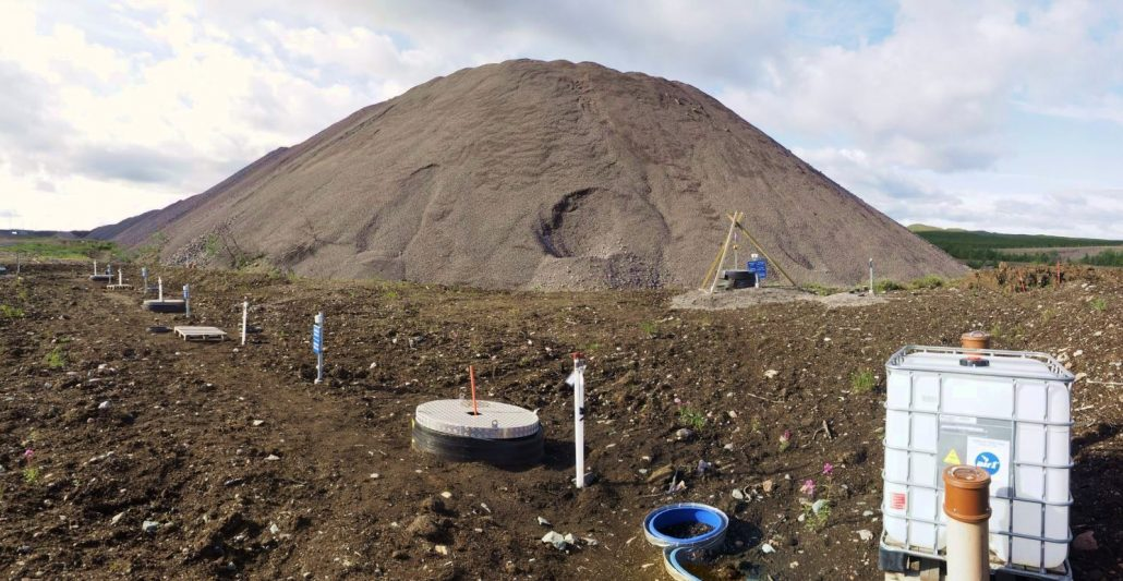 Bioreactor (underground) installed at Kiruna mine